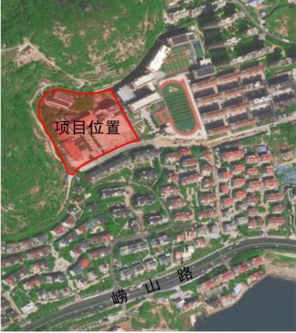 青岛海山学校初中部区位图